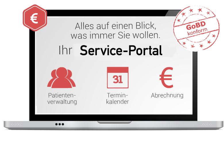 Nutzen Sie unser Service-Portal für Ihre Patienten-Rechnungen - einfach und schnell
